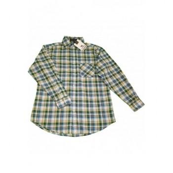 Új, kék-zöld kockás ing (170)