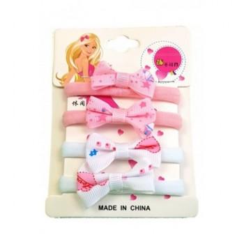 Masnis fehér-pink hajgumi szett