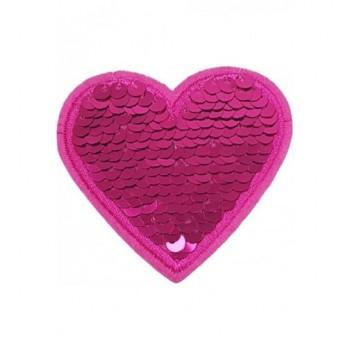 Ruhára vasalható folt – pink szív