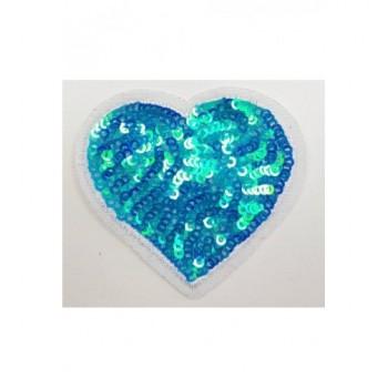 Ruhára vasalható folt – kék szív
