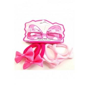 Masins pink hajgumi-csat szett