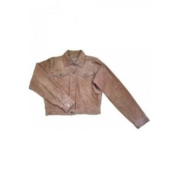Világosbarna kord kabát (164-170)