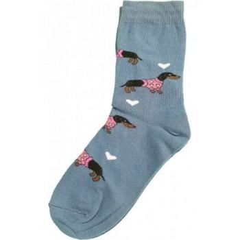 Tacsis, kék prémium zokni (29-31)