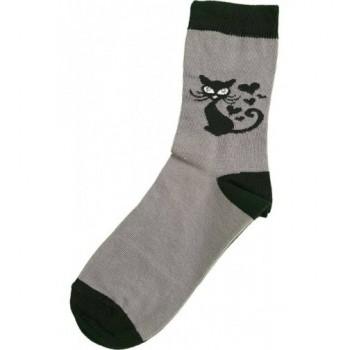 Cicás, szürke prémium zokni (32-34)