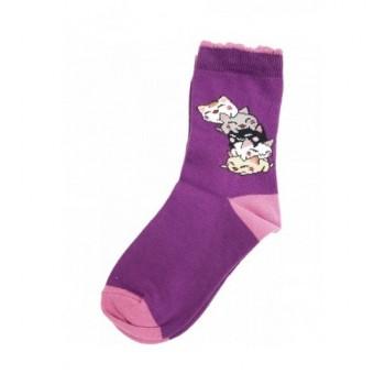 Lila cicás prémium zokni (26-28)