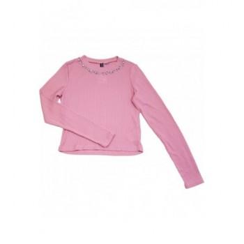 Strasszos rózsaszín felső (164-170)