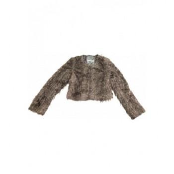 Szőrmés barna kabát (140-146)