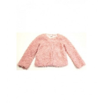 Szőrmés rózsaszín kabát (140)
