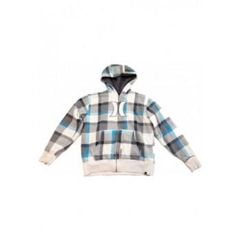 Szürke kockás Hurley kabát (140-152)
