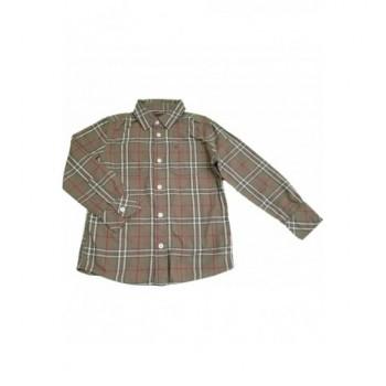 Kockás világosbarna ing (104-110)