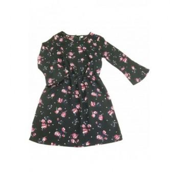 Virágmintás fekete ruha (38)