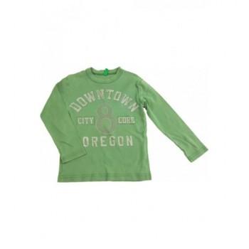 Feliratos zöld felső (98-104)