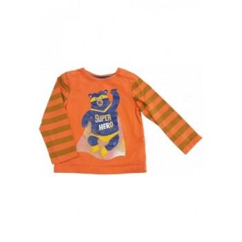 Szuperhős macis narancs felső (86-92)