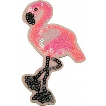 Ruhára vasalható folt – flitteres flamingó