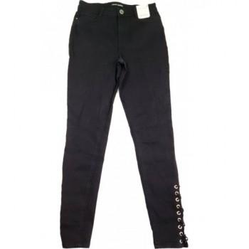 Fűzős fekete skinny nadrág (36)