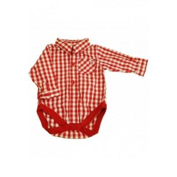 Piros kockás ing-body (68)