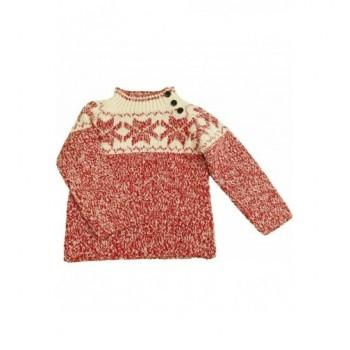 Mintás piros Zara pulóver (98)