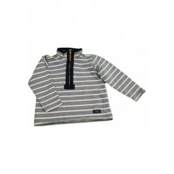 Világoskék csíkos pulóver (98)