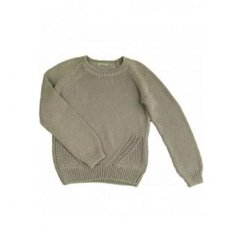 Csillogós szürke pulóver (152)