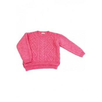 Pink kötött pulóver (110)