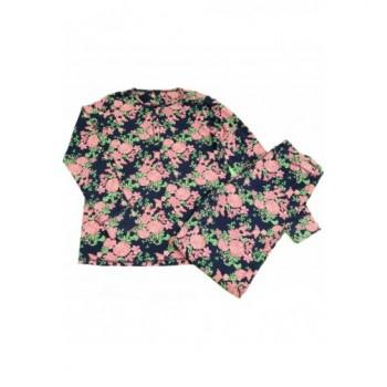 Rózsás sötétkék pizsama (164)