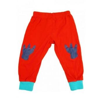 Lábnyomos piros nadrág (80-86)