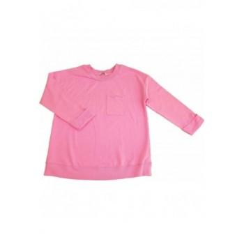Zsebes pink pulóver (158-164)
