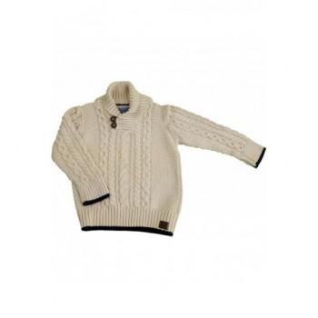 Bézs kötött pulóver (98)