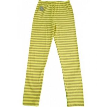 Csíkos sárga leggings (140)