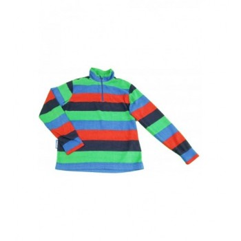 Kék-zöld csíkos pulóver (140)