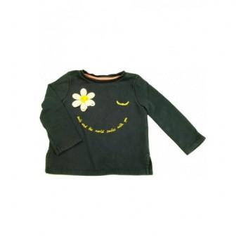 Virágos sötétkék pulóver (98)