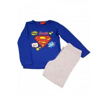 Kék-szürke Supergirl pizsama (128)
