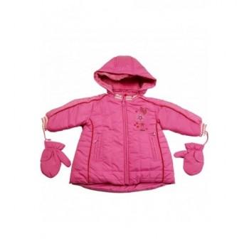 Virágos pink kabát (68-74)