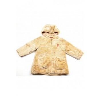 Szőrmés bézs kabát (98)