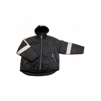 Fényvisszaverős fekete kabát (134-140)