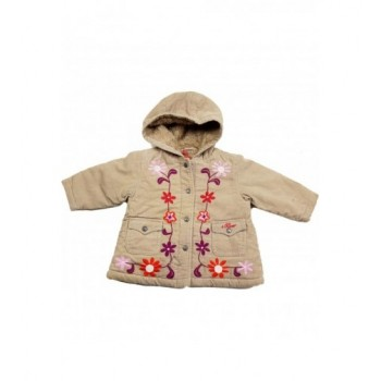 Hímzett drapp kabát (68-74)