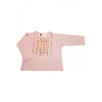 Virágmintás rózsaszín felső (74)
