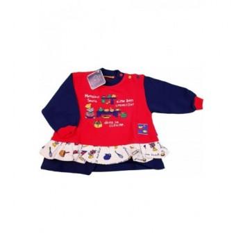 Egeres piros-kék pulóver (80)