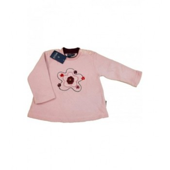 Virágos rózsaszín pulóver (74)