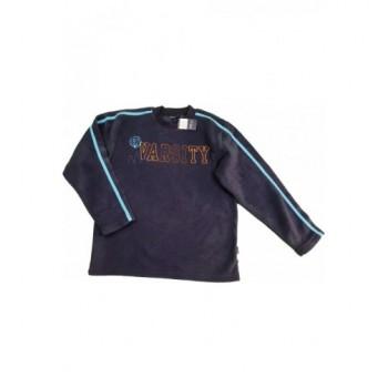 Feliratos sötétkék pulóver (158)