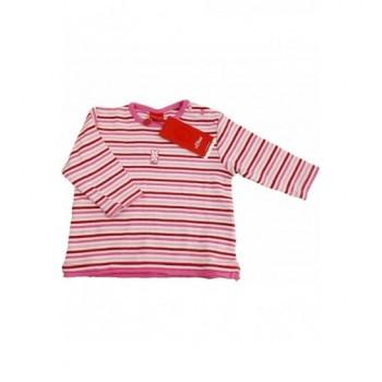 Csíkos rózsaszín felső (62-68)