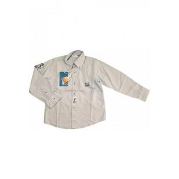 Feliratos halványkék ing (116)