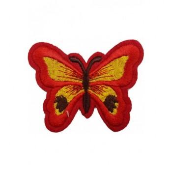 Ruhára vasalható folt – piros pillangó