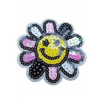 Ruhára vasalható folt – mosolygós virág