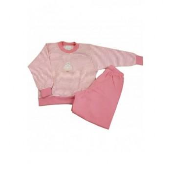 Macis, csíkos rózsaszín pizsama (86)