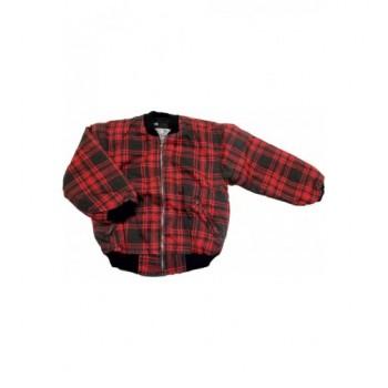 Piros kockás kabát (164)