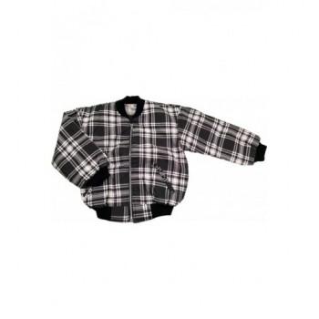 Fekete-fehér kockás kabát (116)