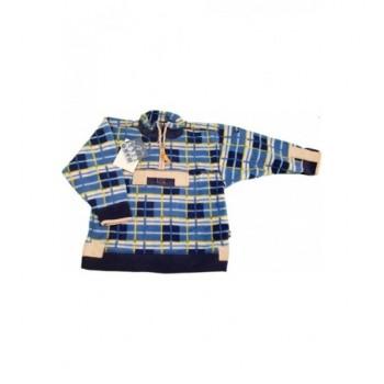 Kockás kék pulóver (110-116)