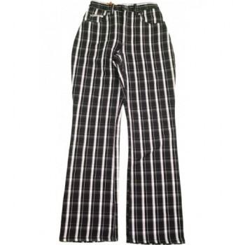 Fekete-fehér kockás nadrág (158)