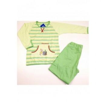 Békakirály világoszöld pizsama (98-104)